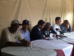 Rueda de prensa esta mañana presentes para el ODHGV el Licdo Guillermo Peña, para la CNDH el Dr. Manuel María Mercedes